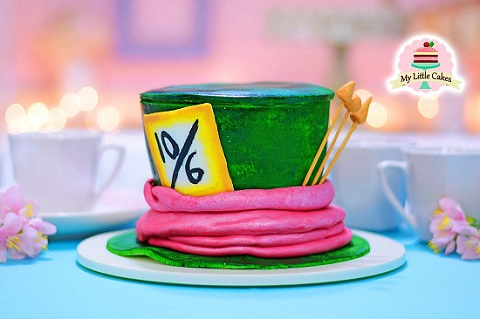 Mad Hatter hat cake tutorial by My Little Cakes