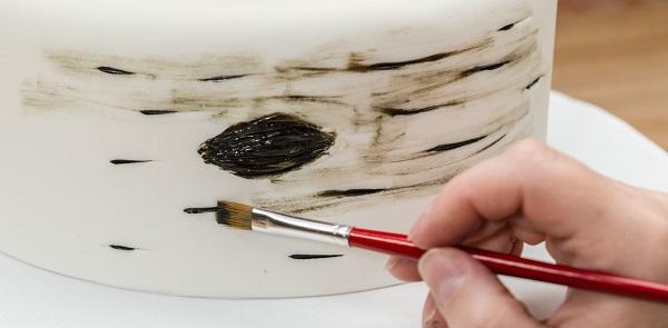 birch tree cake tutorial from Cakes dot com
