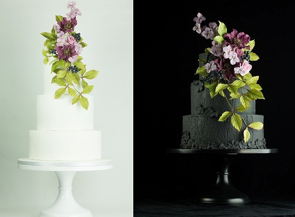 blackberry bramble wedding cakes for fall and autumn by Lina Veber Cakes