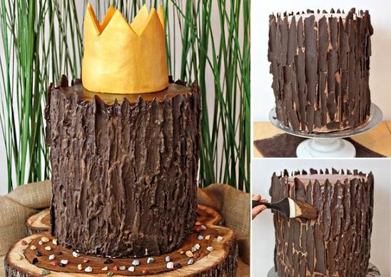 buttercream tree bark cake tutorial by Sugar Hero