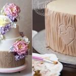 tree bark cake tutorial by The Juniper Cakery