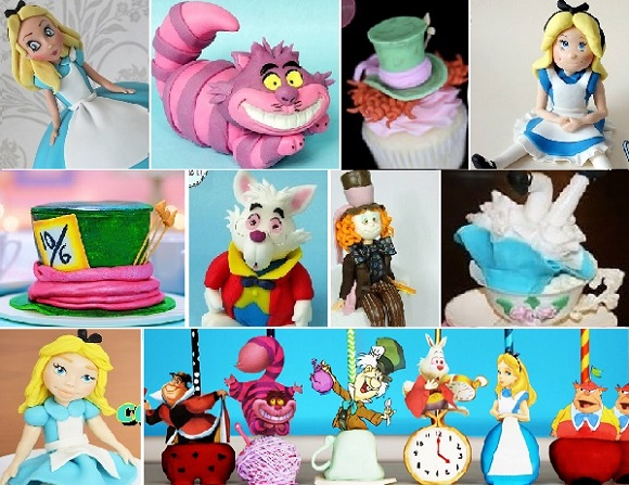 Alice in Wonderland cake tutorials on Cake Geek