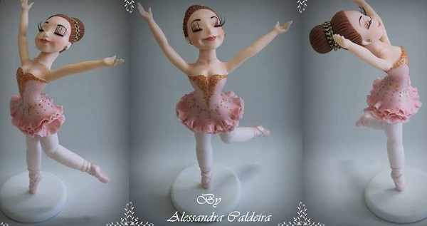 Ballerina gumpaste model cake topper by Alessandra Caldeira