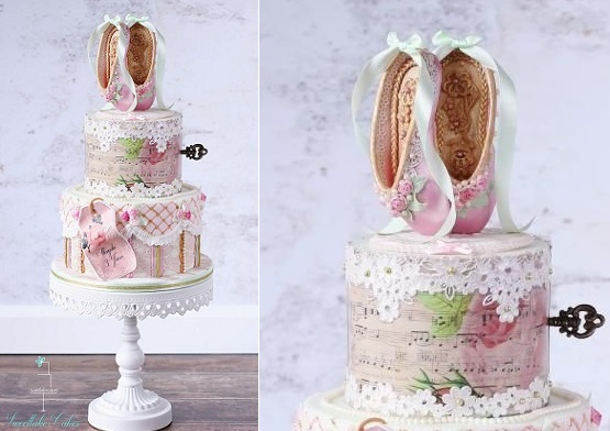 Ballet slippers cake by Sweet Lake Cakes