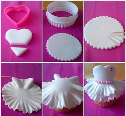ballet tutu cupcake tutorial from the Magie di Luna blog