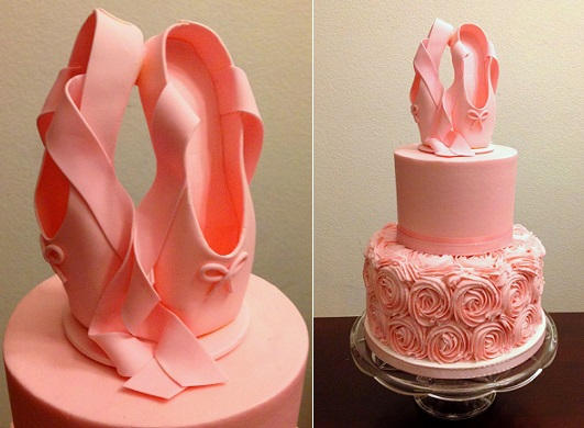 fondant ballet shoes tutorial by Cake Talk Blogger