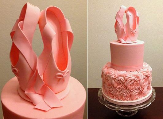 fondant ballet shoes tutorial by Cake Talk Blogger