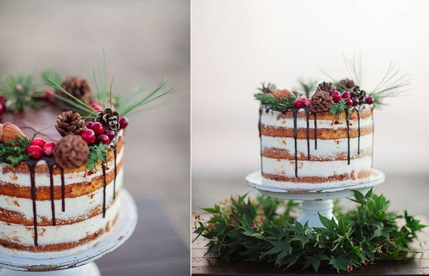 Naked christmas cake by Erica O Brien, Brooke Allison Photography