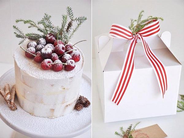 Rustic christmas cake by De La Rosa Cupcakes