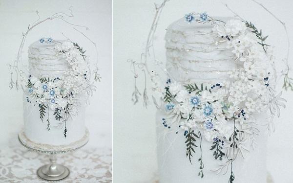 Winter wedding cake by Amy Swann Cakes