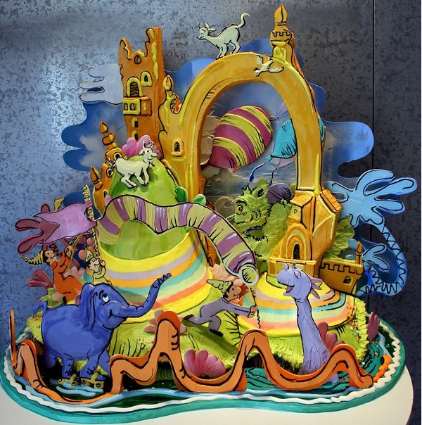 Dr. Seuss story illustrated in cake by Rosebud Cakes