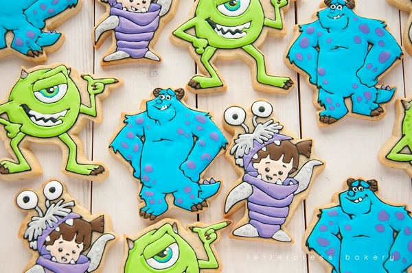 Monster cookies and alien cookies by Letterpress Bakery