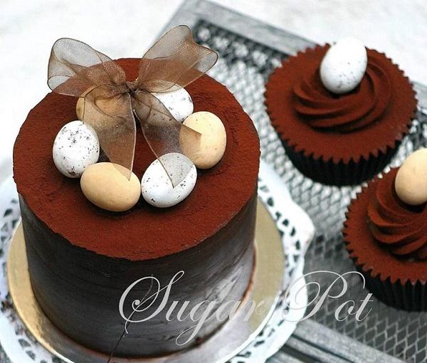 Chocolate easter cake by Priya Maclure of Sugar Pot