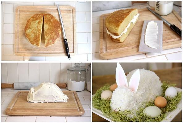 Easter bunny cake tutorial via Recipe Natural