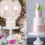 Easter bunny cakes by Sweet and Saucy left and Cake Heart right