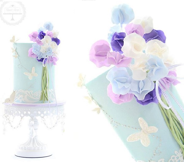 Sweet Pea cake by Sweet Love Cake Couture