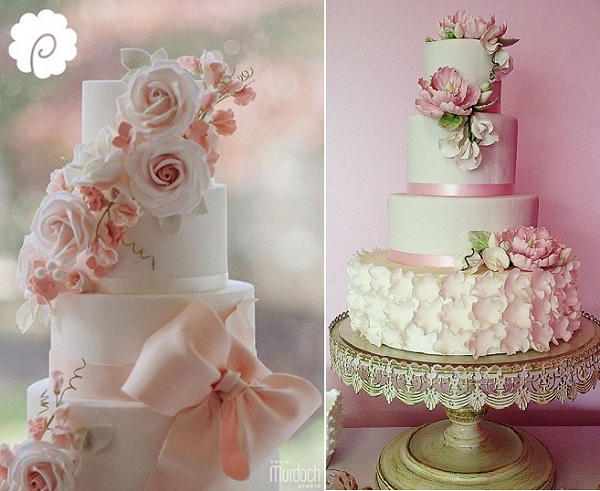 Sweet pea wedding cake by Poppy Pickering, Colin Murdoch Studio l, Jasmine Clouser The Couture Cakery right