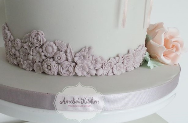 Bas relief wedding cake in detail by Amelie's Kitchen