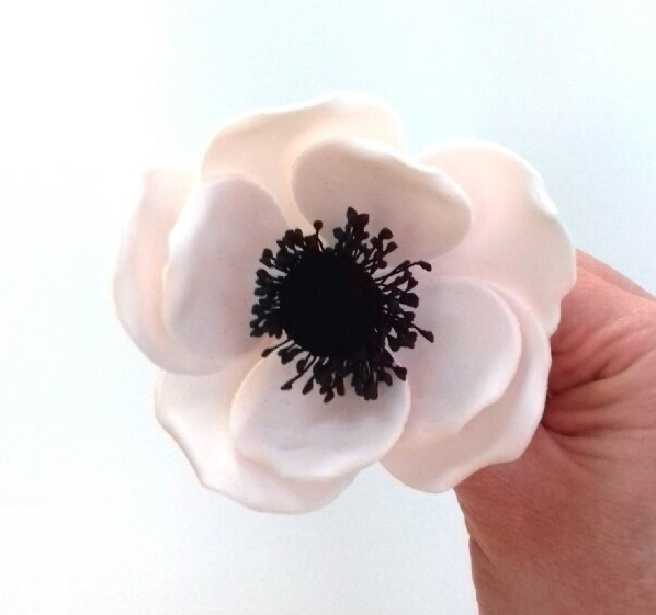 wired gumpaste anenome tutorial