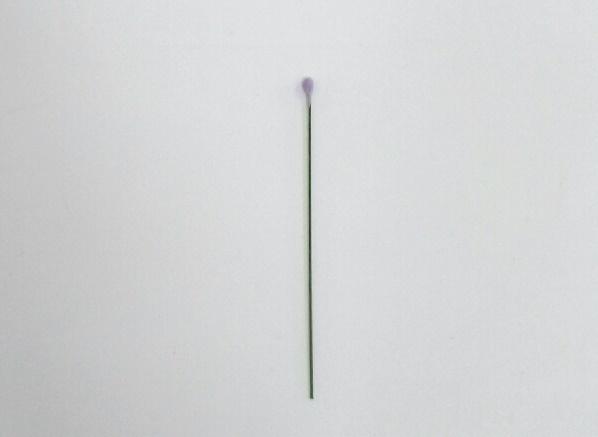 Easy gumpaste lavender tutorial on Cake-Geek.com - making the bud
