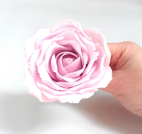 large gumpaste rose tutorial - quick & easy wired rose