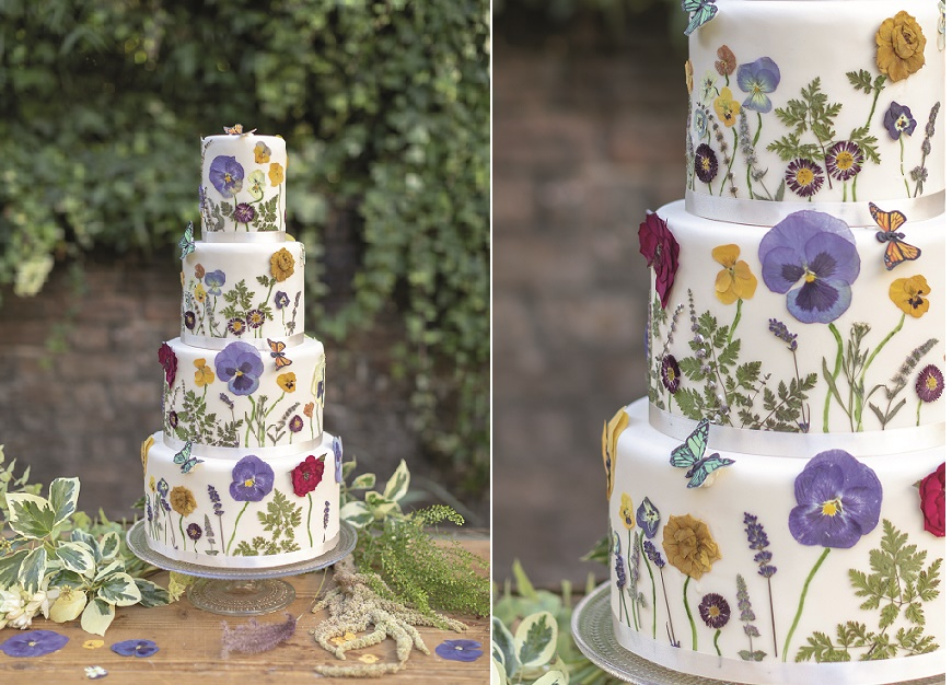 Wildflower Wedding Cake Tutorial by Juliet Sear from Botanical Baking