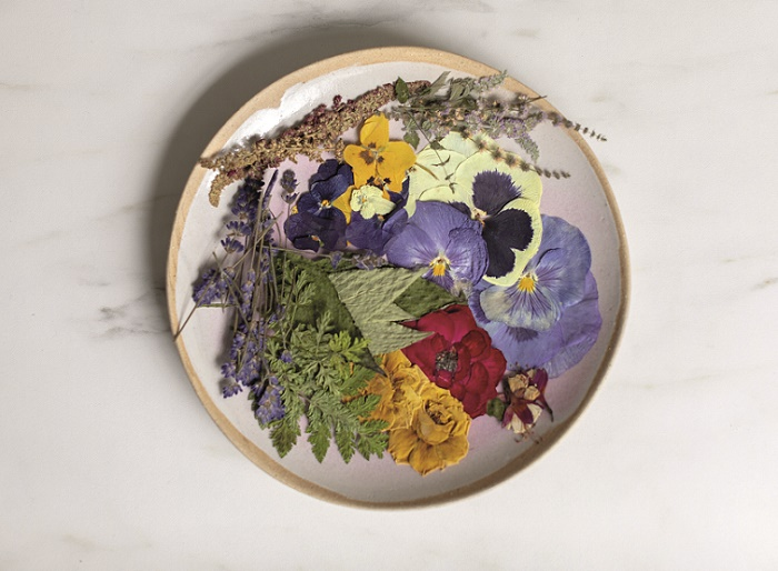 pressed flowers for cake decorating from Botanical Baking by Juliet Sear