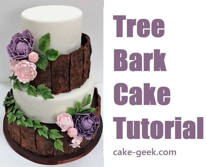 Tree Bark Cake Tutorial on Cake-Geek.com