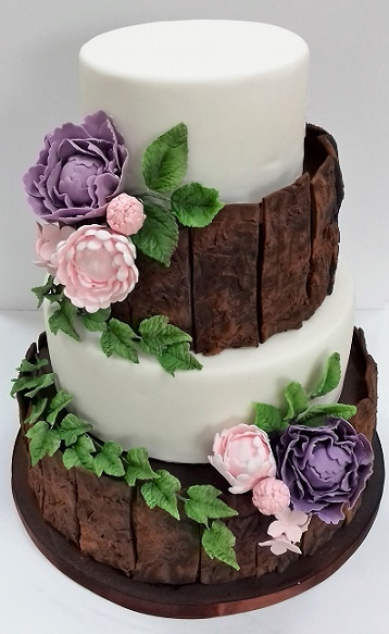 Tree bark cake tutorial on Cake-Geek.com (2)