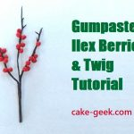 Gumpaste Ilex Berries Tutorial (Winter Berries Tutorial)