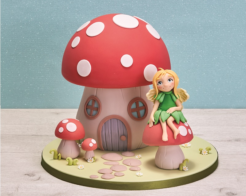 Fairy Cake Topper Tutorial and Fairy Toadstool Cake Tutorial on Cake-Geek
