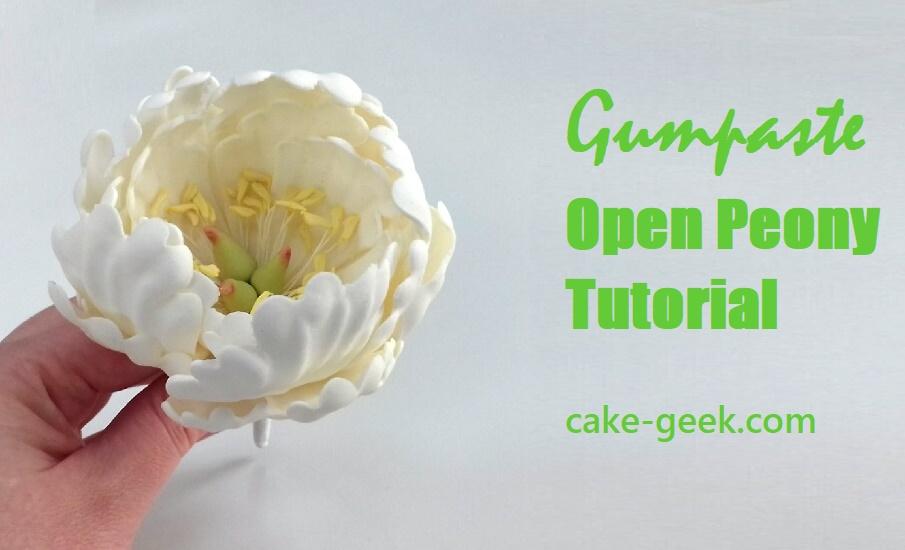 Gumpaste Open Peony Tutorial on Cake-Geek.com