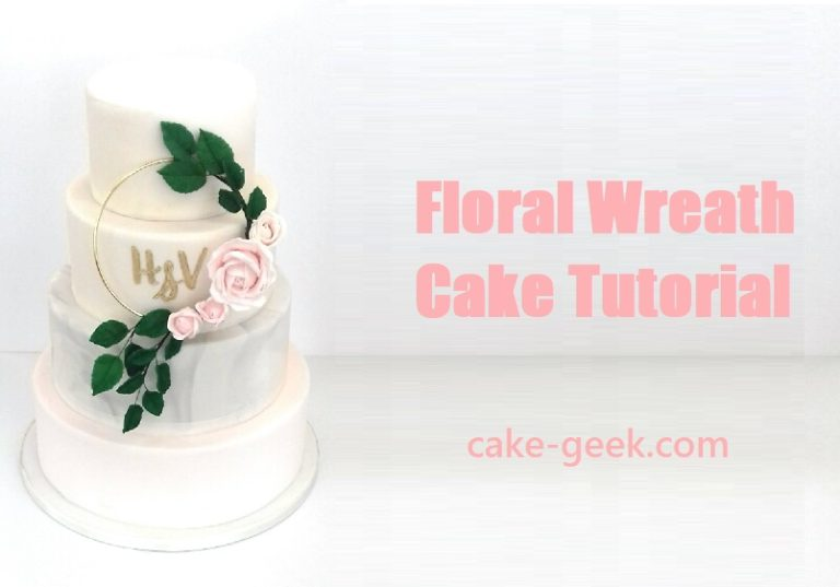 Floral Wreath Cake Tutorial on Cake-Geek.com