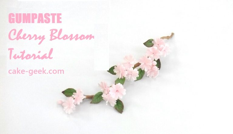 Gumpaste Cherry Blossom Tutorial on Cake-Geek.com