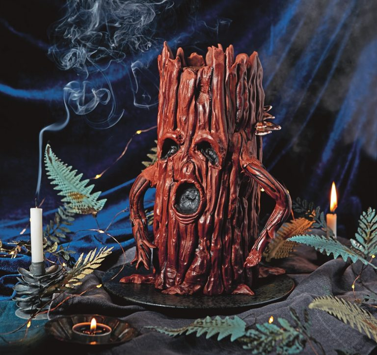 Tree Spirit Cake Tutorial Halloween on Cake-Geek.com