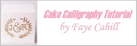 Cake calligraphy tutorial by Faye Cahill on Cake-Geek.com