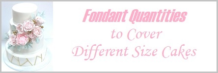 Fondant Quantities to Cover Different Size Cakes