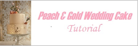 Peach and Gold Wedding Cake tutorial by Emily Lael Aumiller on Cake-Geek.com