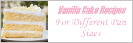 Vanilla cake wedding recipes for different pan sizes on Cake-Geek.com