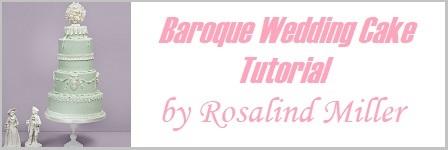 baroque wedding cake tutorial by Rosalind Miller on Cake Geek.com