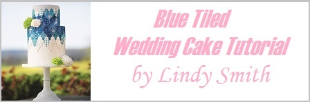 blue tiled wedding cake turorial by Lindy Smith on Cake-Geek.com