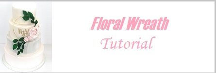floral wreath cake tutorial on Cake-Geek.com