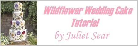 wildflower wedding cake tutorial on Cake-Geek.com by Juliet Sear