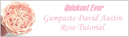 Gumpaste David Austin Rose Tutorial Quickest Ever on Cake-Geek.com