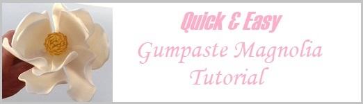 Gumpaste Magnolia Tutorial Quick & Easy on Cake-Geek.com