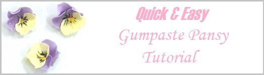 Gumpaste Pansy Tutorial Quick & Easy on Cake-Geek.com