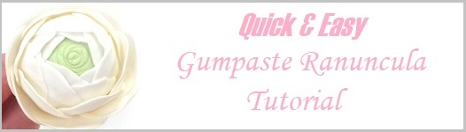 Gumpaste ranuncula tutorial quick and easy on Cake-Geek.com