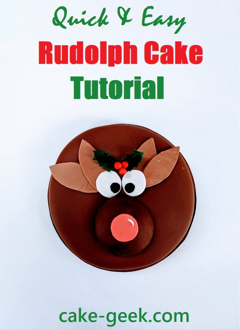 Quick & Easy Rudolph Cake Tutorial on Cake-Geek.com