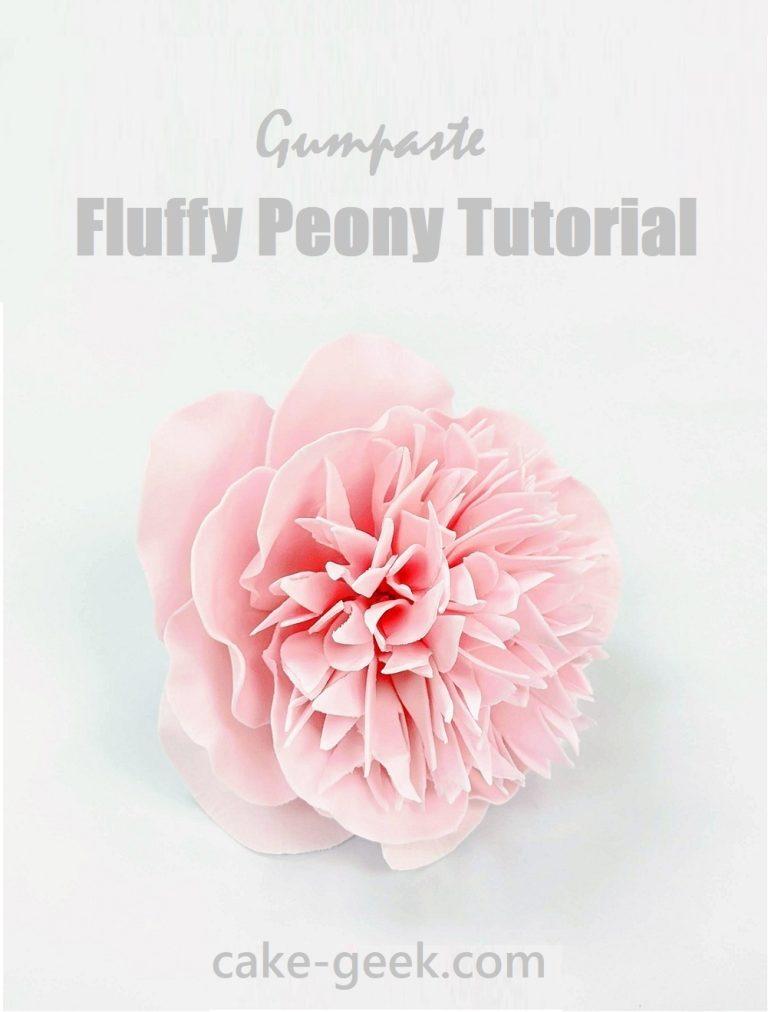 Gumpaste Fluffy Peony Tutorial Cake-Geek.com