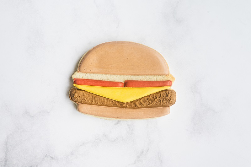 Cheeseburger Cookie Tutorial by Anne Yorks Cheese